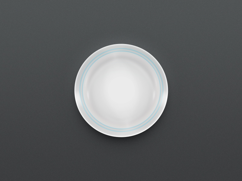 Plate in the dark