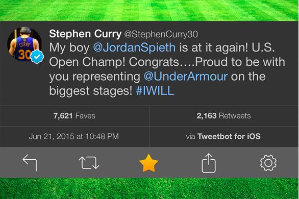 Steph Curry positive tweet