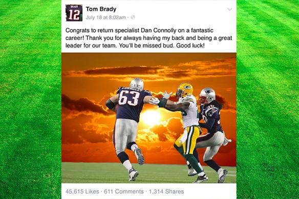Tom Brady positive post