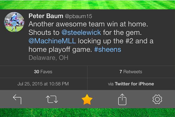 Peter Baum positive tweet
