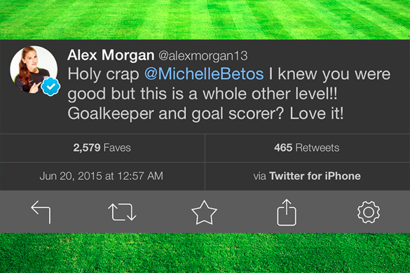 Alex Morgan positive tweet
